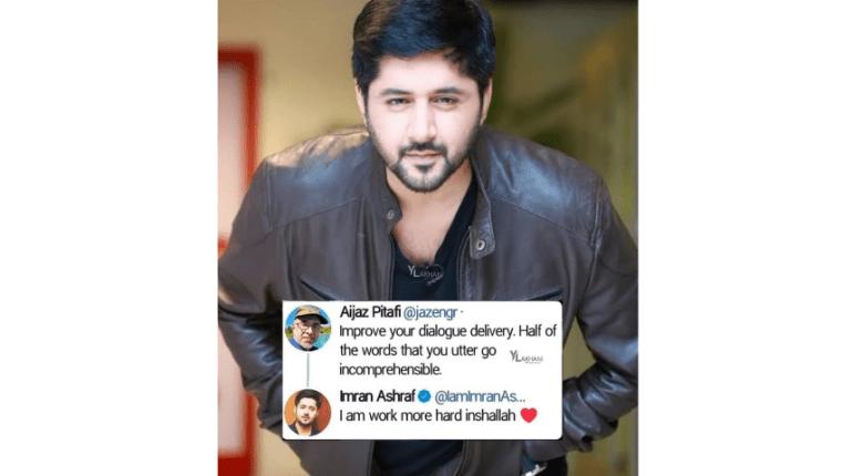 Imran Ashraf Always Take Criticism In A Positive Manner