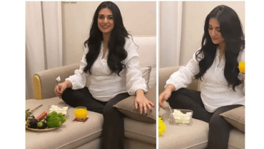 Sarah Khan Pregnancy Work Out Poses With Baby Bump