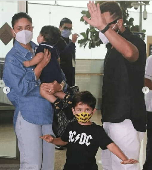 Kareena Kapoor keeps Jeh in her arms as she leaves with Saif