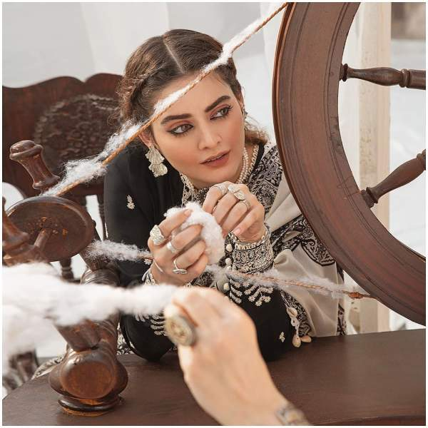 After Marriage Minal Khan 1st Shoot For Cross Stitch Collection
