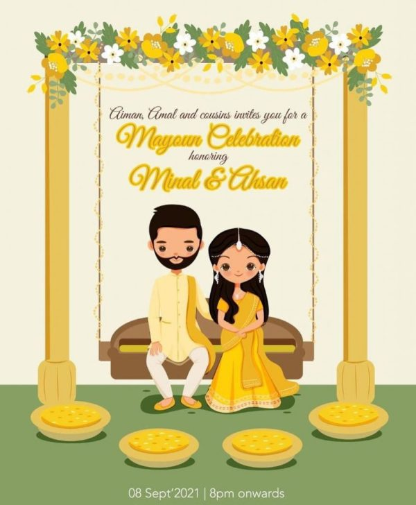 Ahsan Mohsin Ikram Shares Invites For His Wedding Events