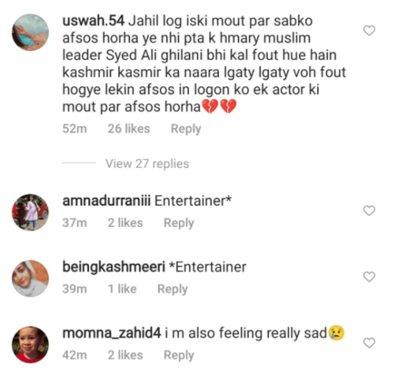 Noor Bukhari criticized for comment on Sidharth Shukla death