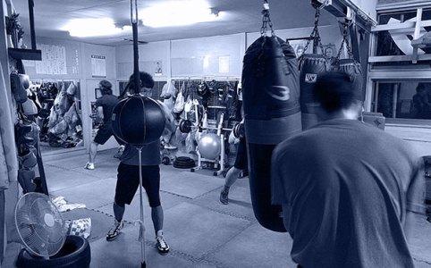 ボクシングジムの練習