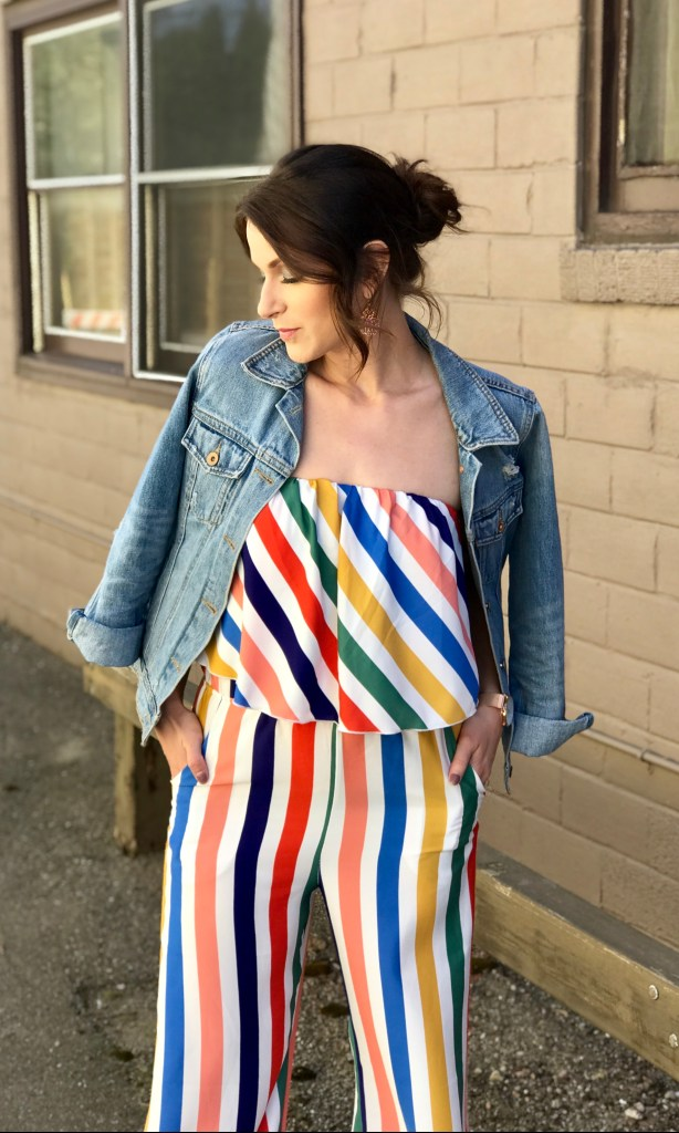 Striped Jumpsuit Style