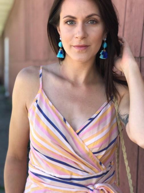 striped top earrings 2