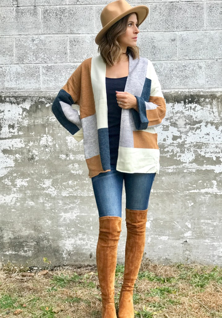 Fall Fashion // Colorblock Cardigan