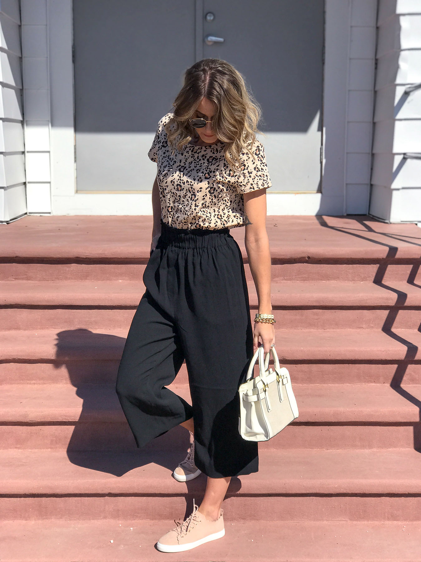 wide leg ankle pant
