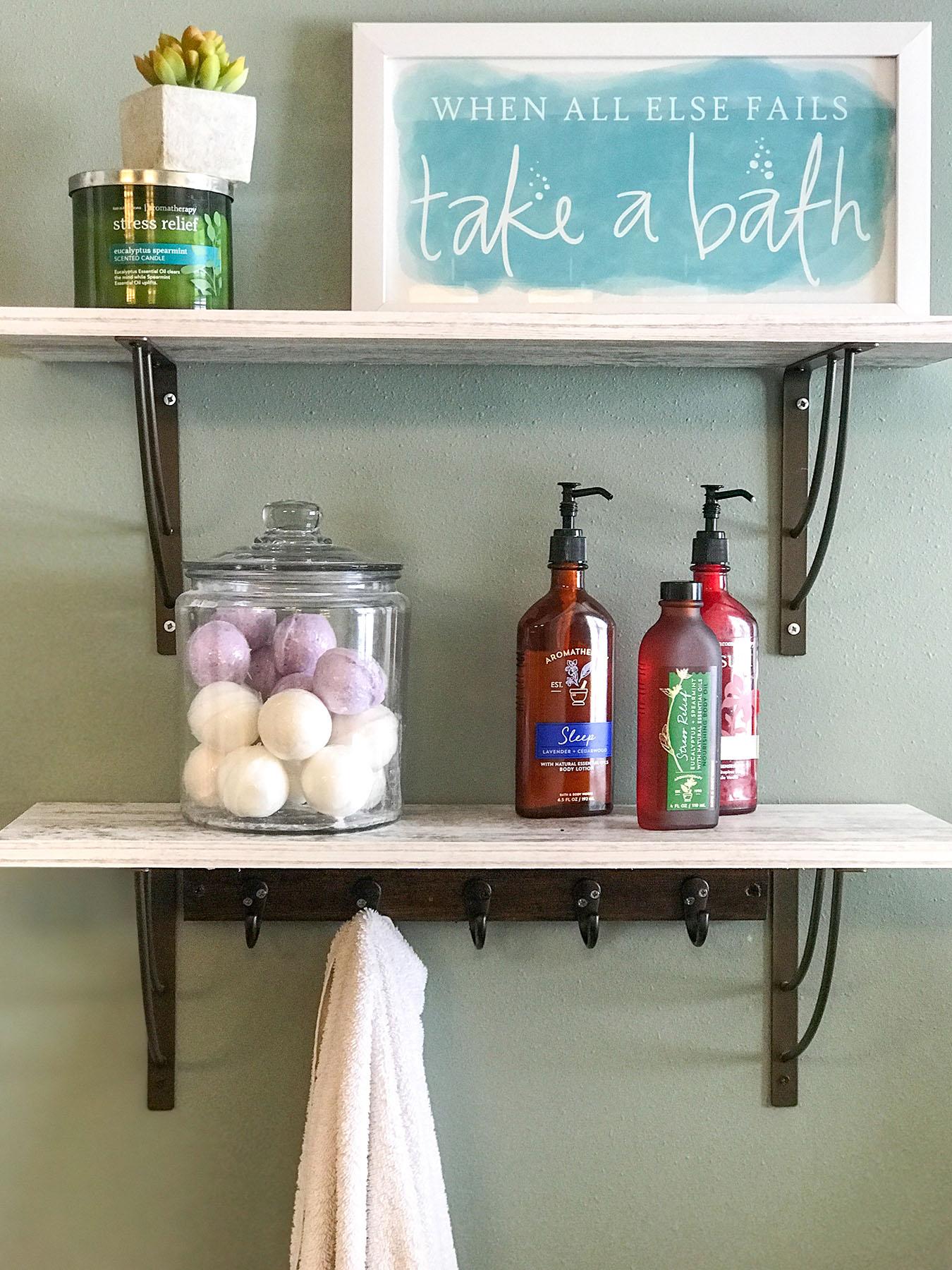 Master Bath Shelves