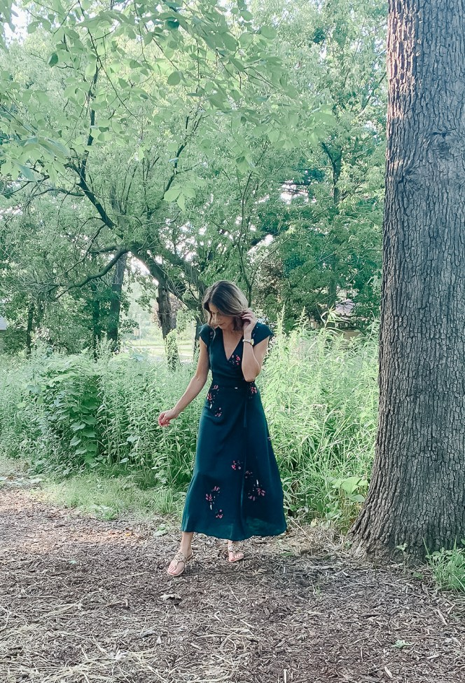 Gentle Fawn - Alba Long Floral Wrap Dress @ $124