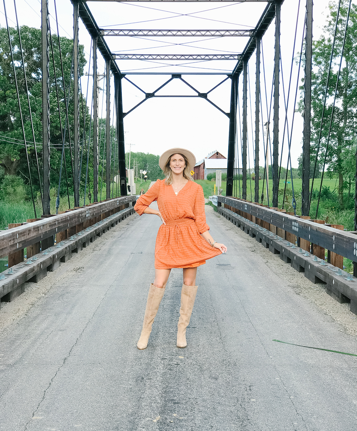 Orange Fall Dress