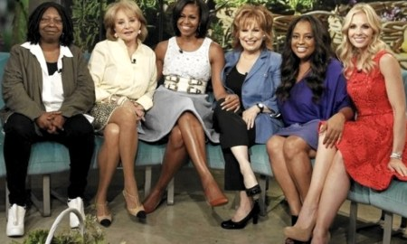 "Michelle Obama with Mimi Plange and hots of ABC's ""The View"""