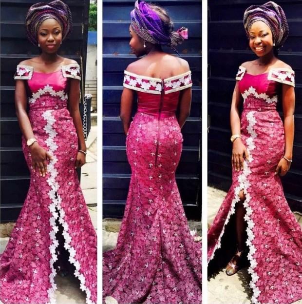 off shoulders princess line gown_AnkaraStyles