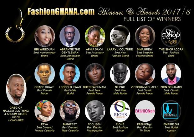 FashionGhana Honours Winners