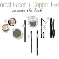 The Makeup Lady - Forest Green and Copper Eyes