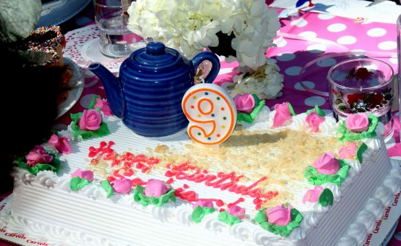 9 year old Tea party celebration 157