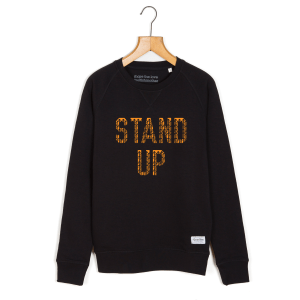 stand-up-black-unisex-sweatshirt