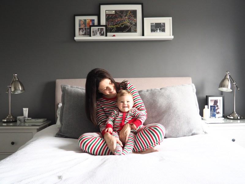 Adult Unisex Pyjamas and Baby Sleepsuit both Matalan