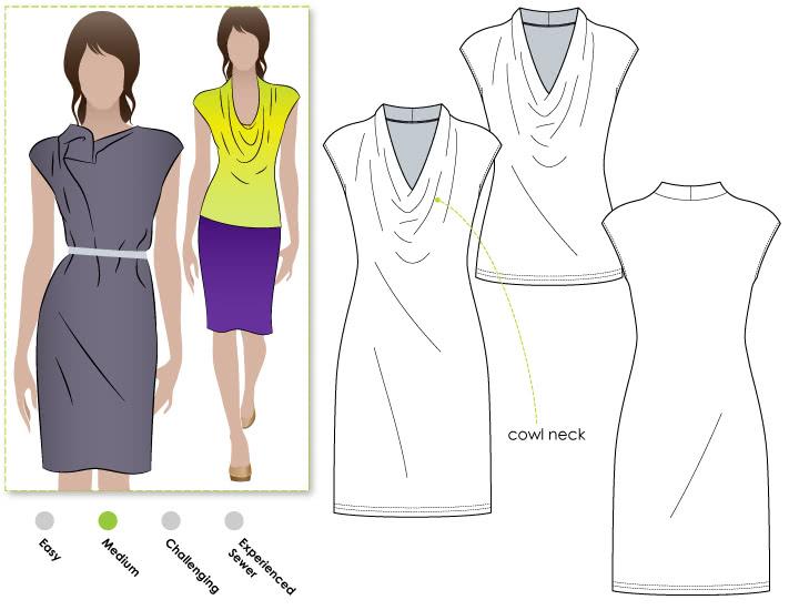 Franki Dress Sewing Pattern / Top Sewing Pattern PDF