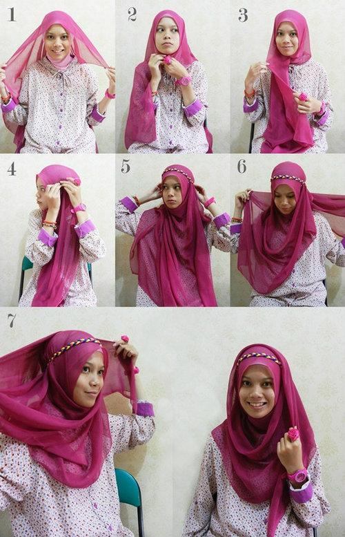 30+ Hijab Styles Step by Step , Style Arena