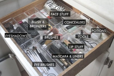 An Organized Makeup Drawer