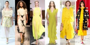 spring 2017 fashion trends yellow