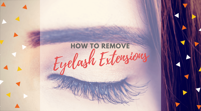 How to remove eyelash extensions