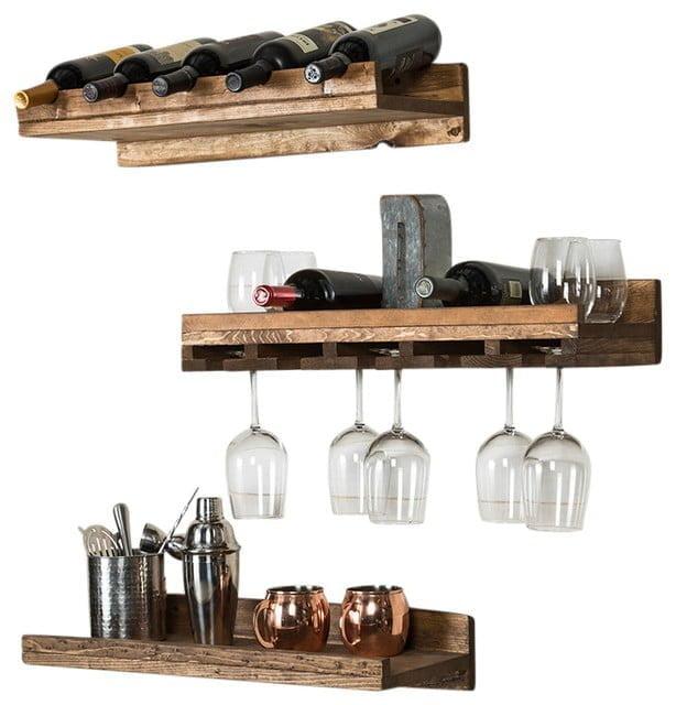 20 unique wine glass rack ideas for