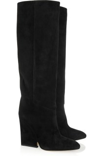 Cutout-wedge suede knee boots. Jimmy Choo, $1,395