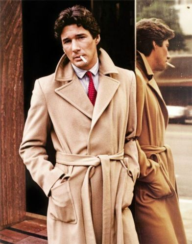 Richard Gere as Julian Kay in a cashmere camel coat. American Gigolo, Paul Schrader (1980)