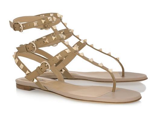valentino-stud-flat-sandals