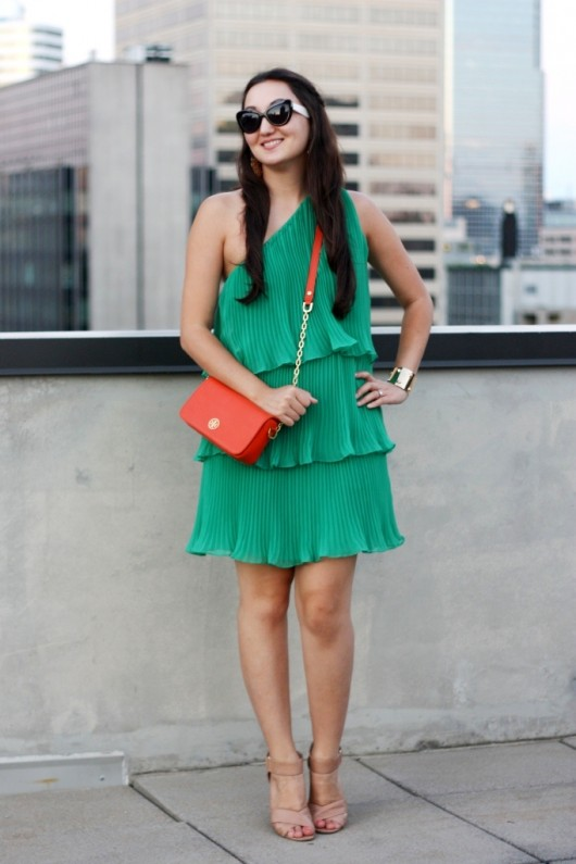 green-pleated-dress
