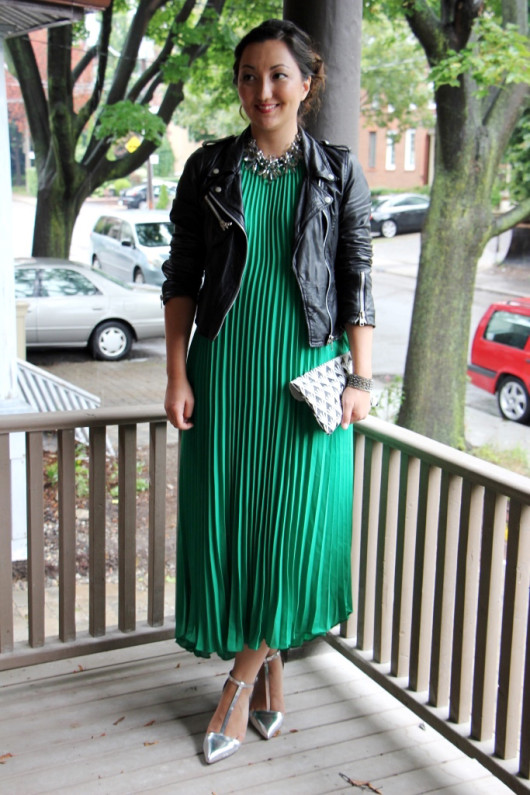 green-pleated-maxi-dress
