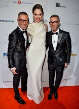 Canadian-Arts-Fashion-Awards-2014-Coca-Rocha-with-DSquared2s-Dean-and-Dan-Caten