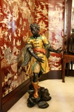 One of the two Venetian Blackamoors in the entrance hall
