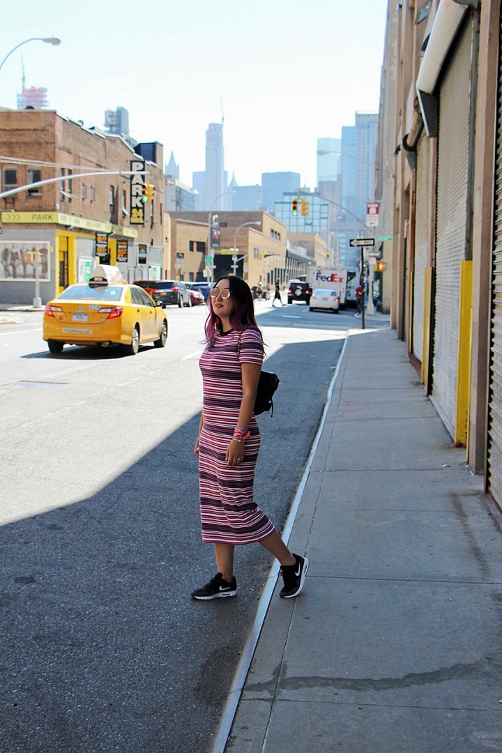 striped-knit-dress-topshop-pink-hair
