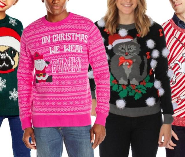 Best Ugly Christmas Sweaters  Cat Unicorn Dog