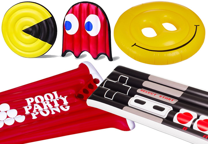 best-inflatable-pool-floats-pac-man-nintendo