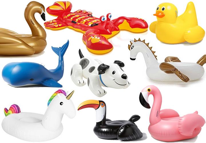 best-inflatable-pool-floats-unicorn-pegasus-flamingo-lobster-swan