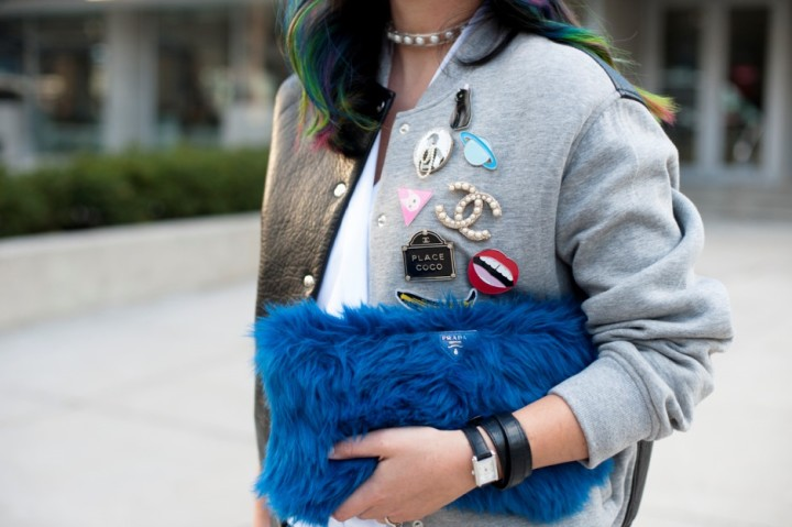 toronto-fashion-week-street-style-2016-alexander-wang-bomber-rainbow-hair4