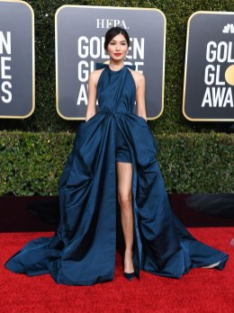 golden-globe-awards-2019-gemma-chan-valentino