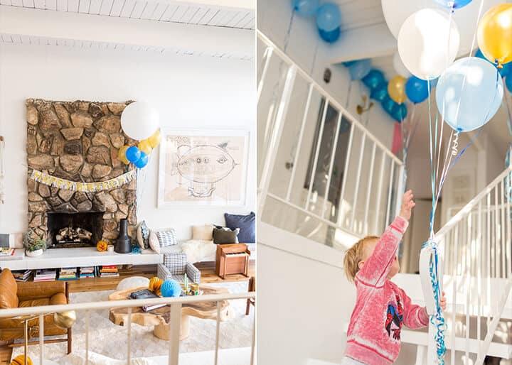 Charlies Second Bday_Decorations_Blue_Gold_White_Spiderman_Emily Henderson_Boys Birthday