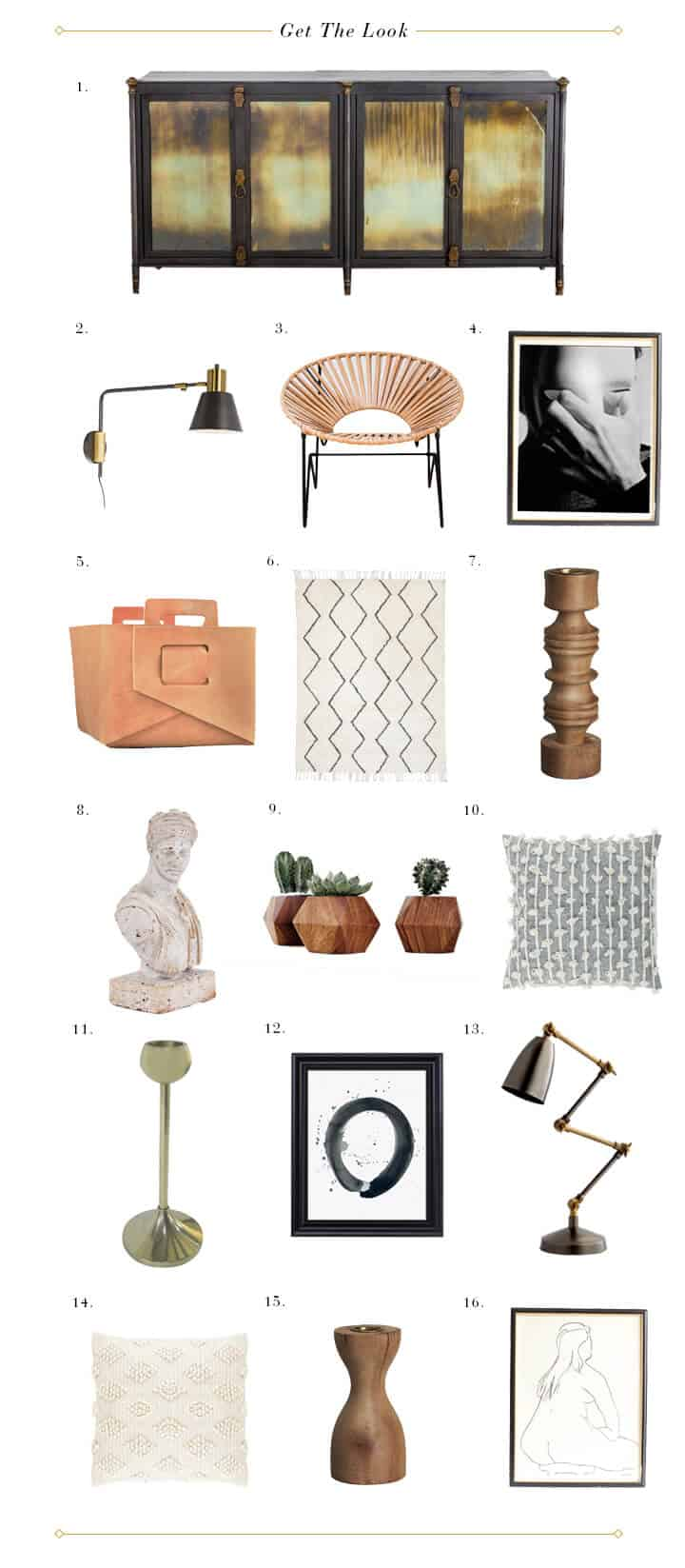 Brady Picks A Credenza_Living Room_Broc Console_Modern Art_Moody_Masculine_Gray_Wood_Eucalyptus_Woven Leather_Get The Look 1
