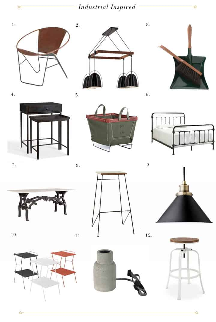 Design Mistakes_Faux No Mo_Roundup_Industrial Inspired Furniture Accessories