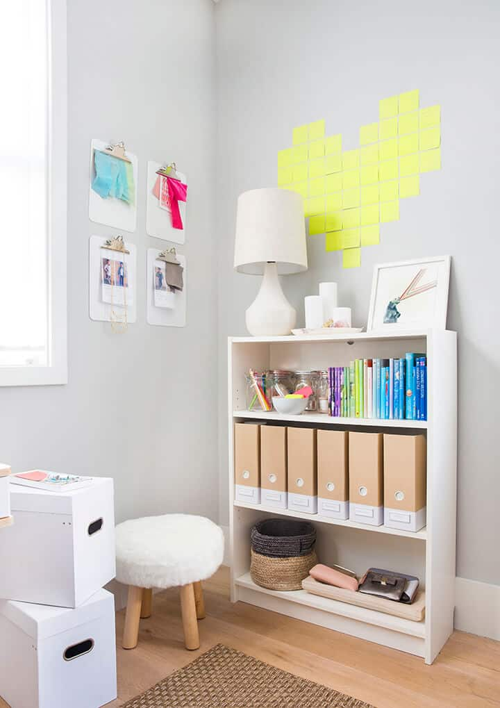 How Do You Do_Me Time_Office_Bright_Happy_Green_White Modern_Post It Notes_Storage