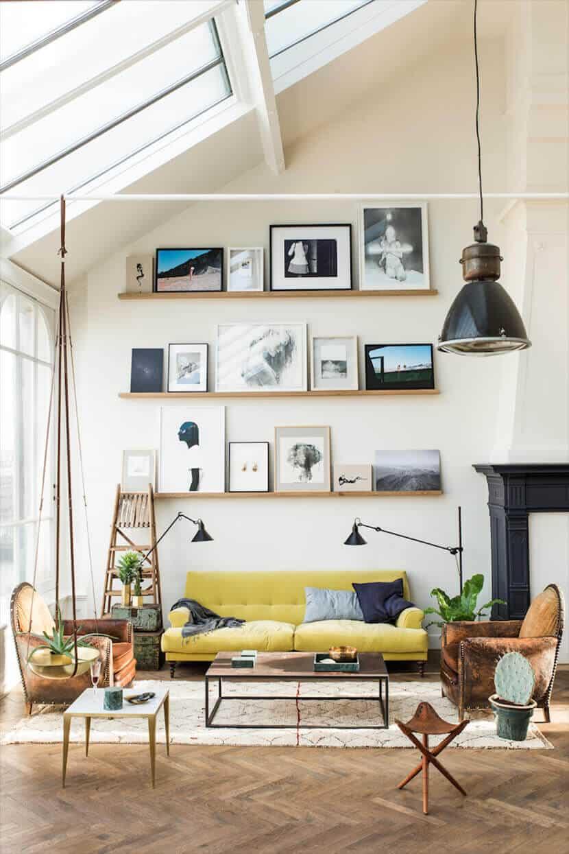 The Loft Amsterdam Yellow Sofa