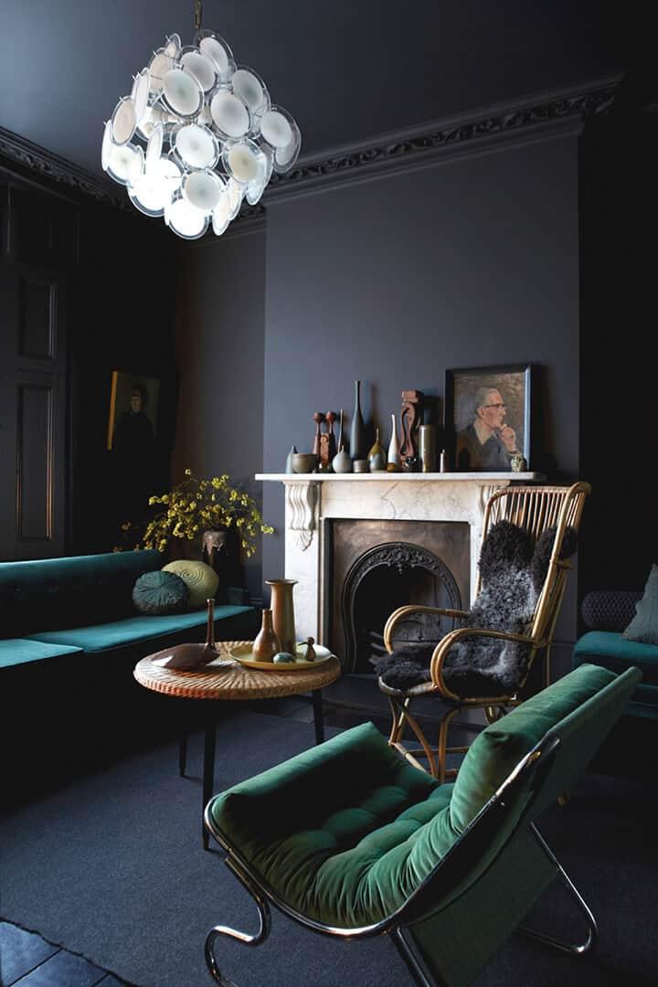 black living room_design trend_moody_masculine_BLACK