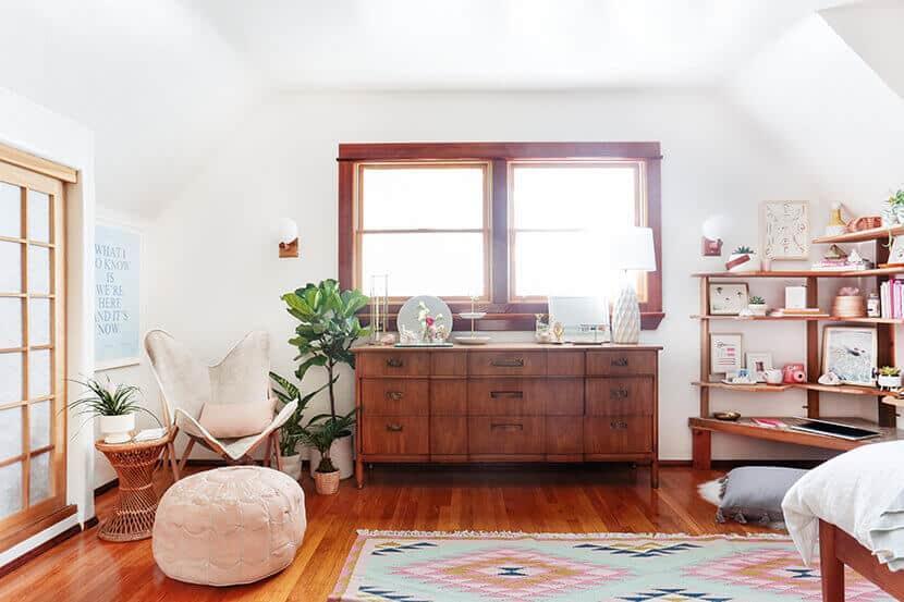 Bright Minimal Boho Bedroom