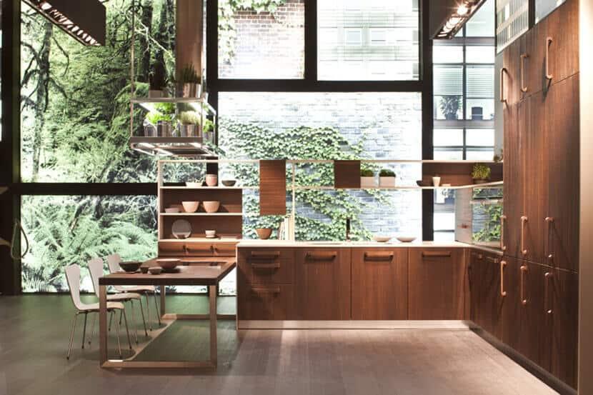Dark Wood Minimal Modern Kitchen