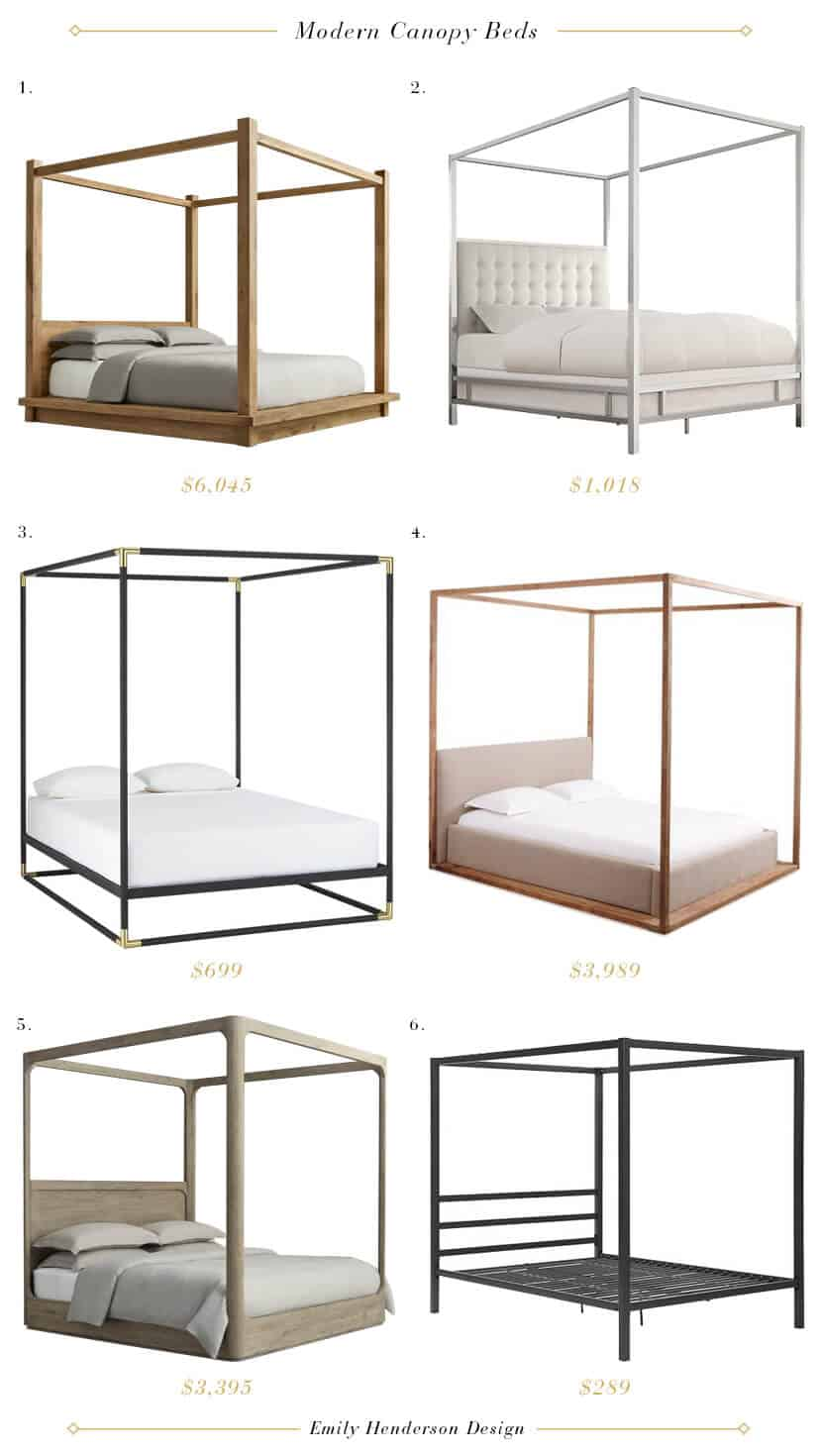 Emily Henderson Modern Four Poster Beds