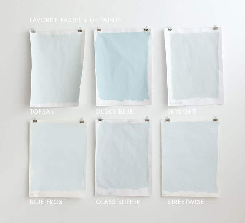 FAVORITE PASTEL BLUE PAINTS